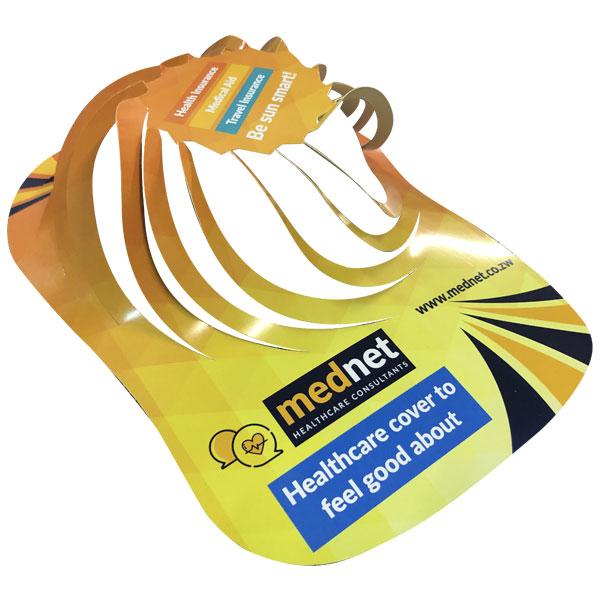 Promotional paper spiral cap